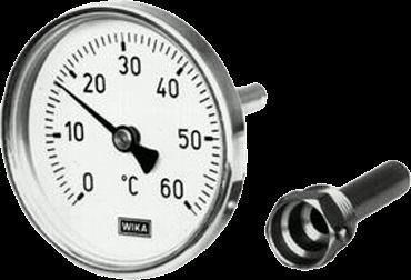Термометры Wika А46 . 11 накладные на трубу