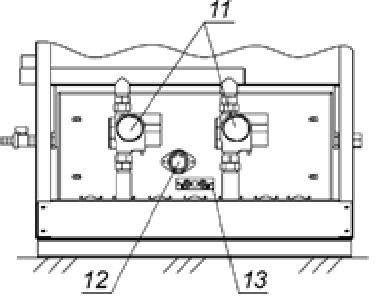 Рис. 3. Вид спереди со снятой передней панелью котла (версия с двухступенчатой горелкой)