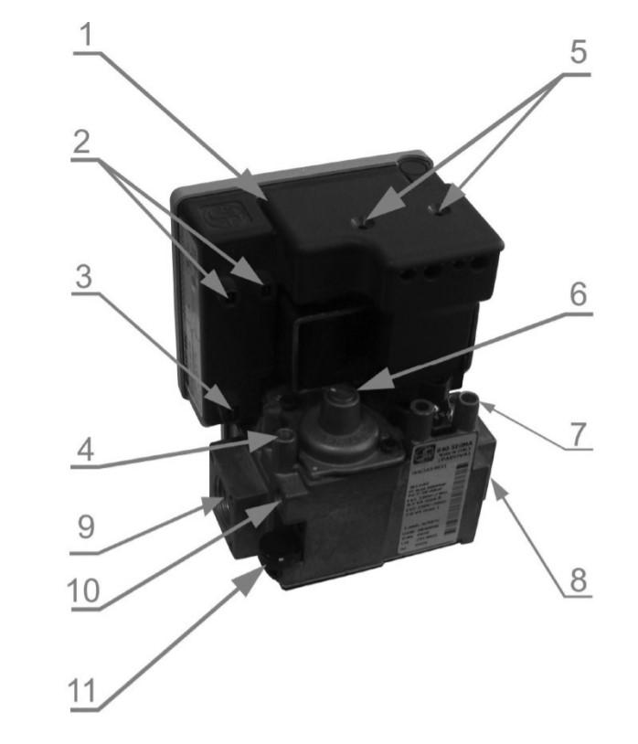 Рисунок 11. Газовый клапан котла с автоматикой.
