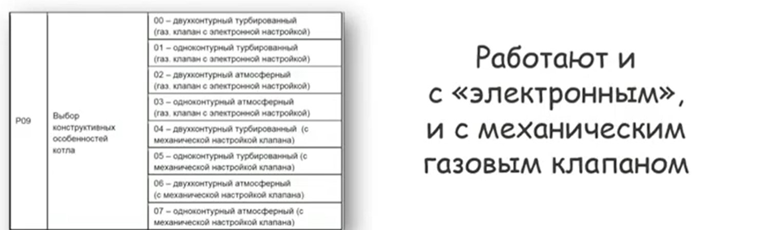 Рабочий параметр P09