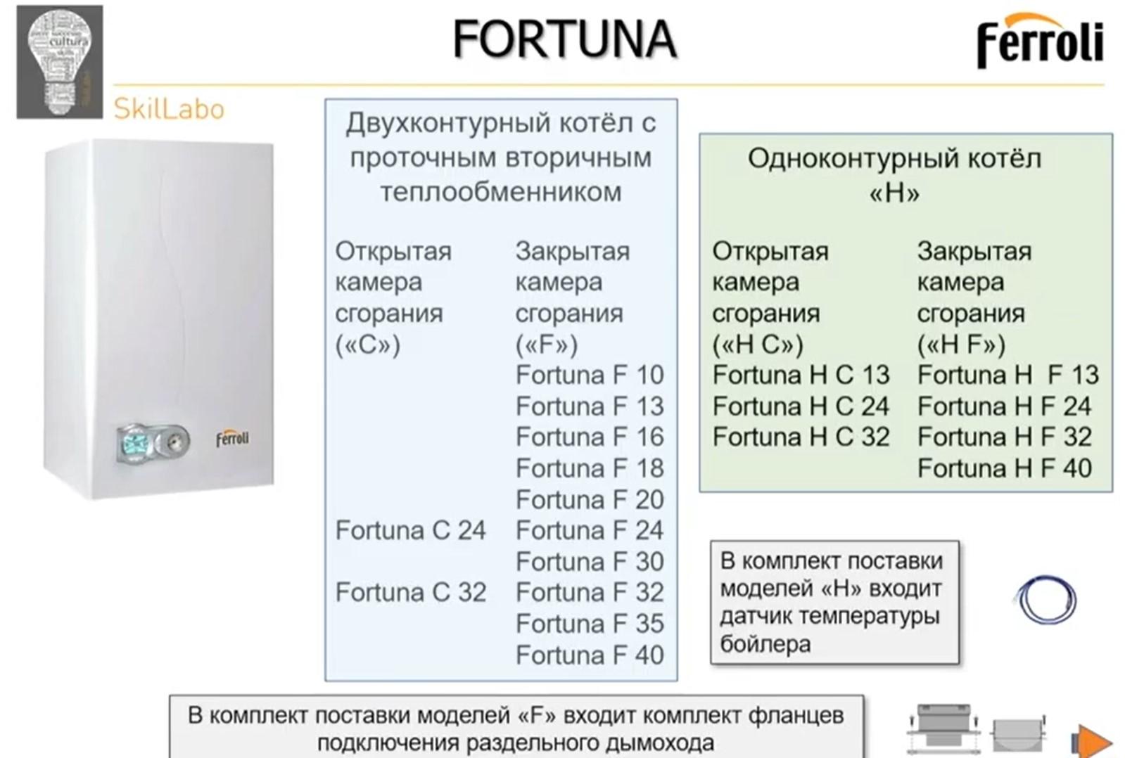 Котлы Fortuna