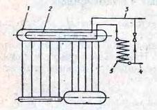 Схема подогрева воды в поверхностном теплообменнике, размещенном внутри верхнего барабана котла ДКВР