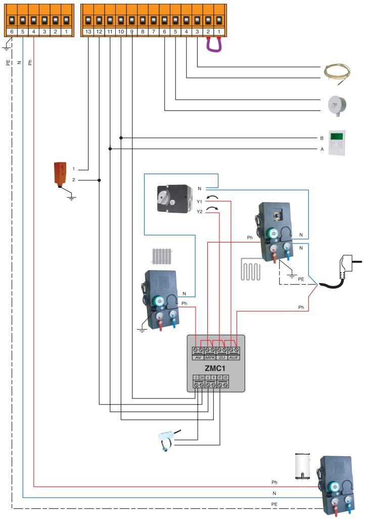 Монтажная блок-схема согласно существующим нормативам