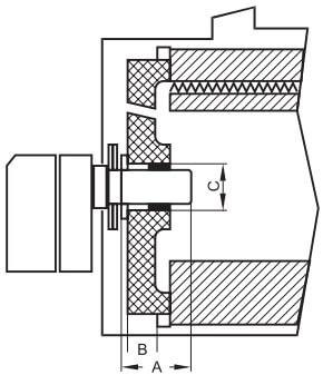 Рис. 9. Расположение горелочной трубы в камере сгорания