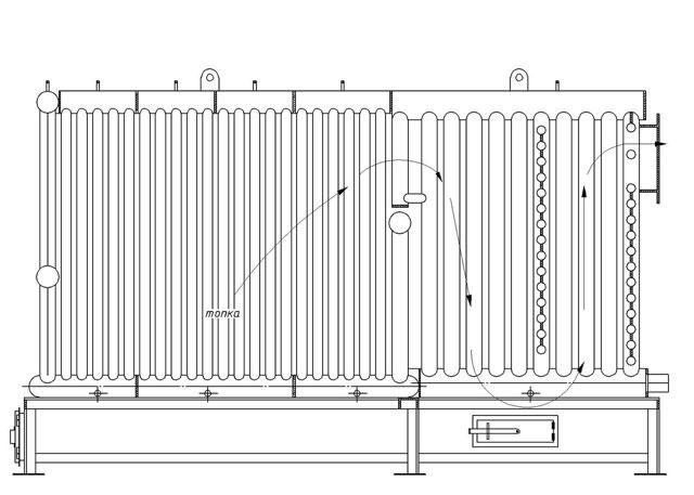 Схема-движения-газов-котла-с-ручной-загрузкой-топлива